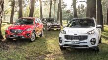 2016 Kia Sportage, Toyota RAV4 and Mazda CX-5 AWD review