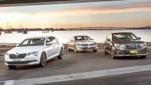 Skoda Superb, Volkswagen Passat and Subaru Liberty 2016 review