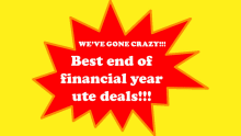 Best end of financial year ute deals