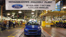 Ford Falcon, Territory and Holden Cruze production ends