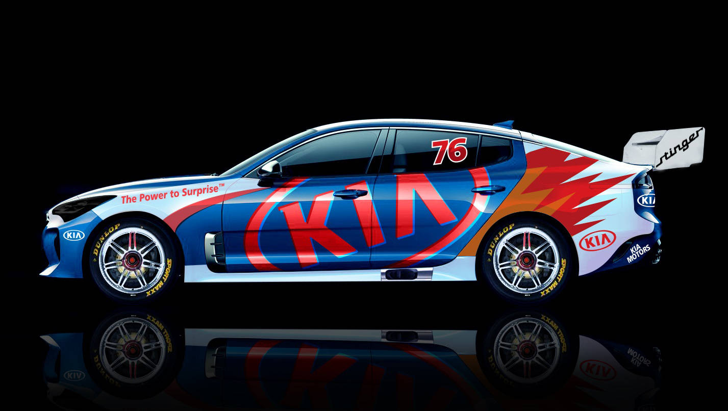 Kia Stinger in the Supercars mix - Car News | CarsGuide