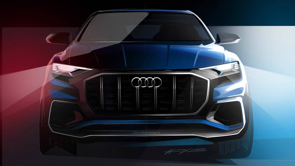 Audi Teases Q8 SUV Coupe Ahead Of Detroit