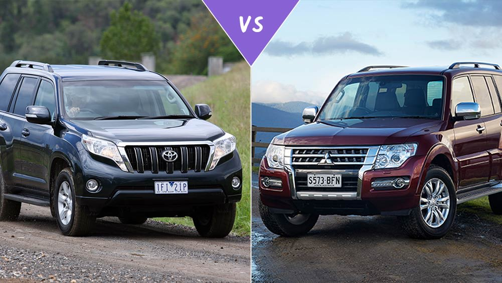 toyota land cruiser prado vs mitsubishi pajero review