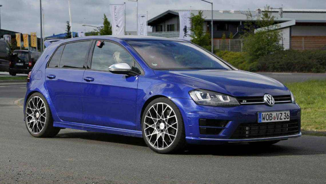 vw golf r400 spied testing car news carsguide