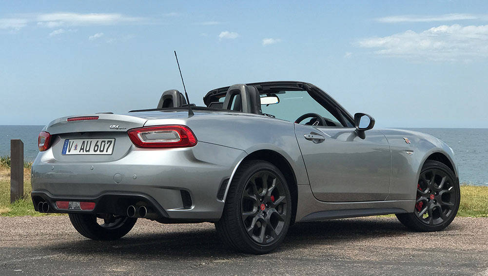 abarth 124 spider convertible manual 2016 review road test carsguide. Black Bedroom Furniture Sets. Home Design Ideas