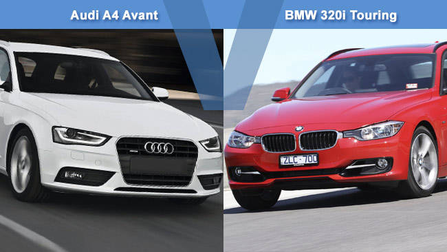 Audi A4 Avant 2 0 Vs Bmw 320i Touring Review Carsguide