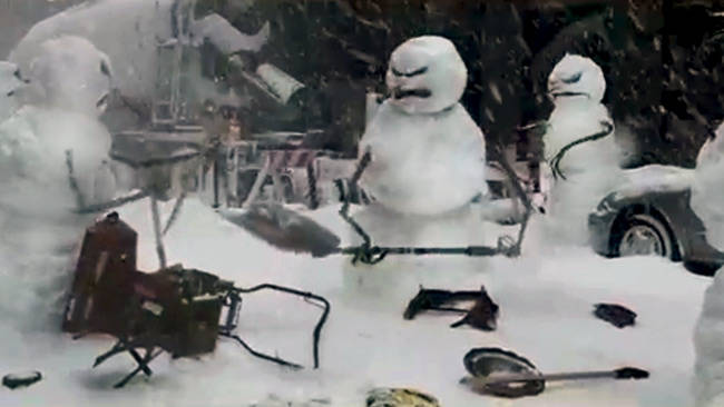 Nissan Defeats Evil Mutant Killer Snowmen Video Car News - 18 creepy horror snowmen will take winter next level