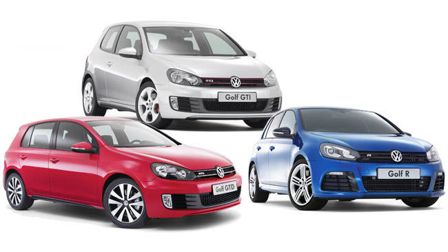 volkswagen golf r vs golf gti vs golf gtd 2010 review carsguide. Black Bedroom Furniture Sets. Home Design Ideas