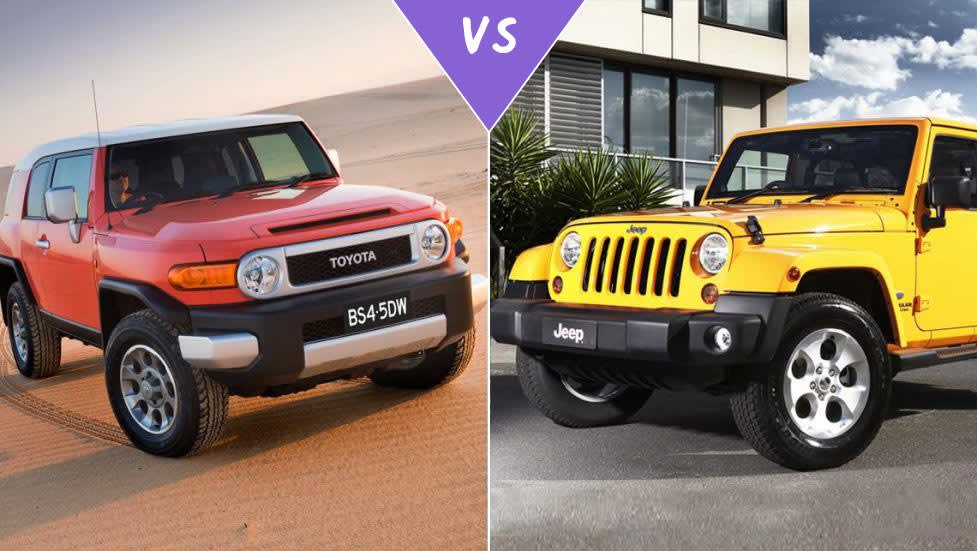 toyota fj cruiser vs jeep wrangler review carsguide. Black Bedroom Furniture Sets. Home Design Ideas