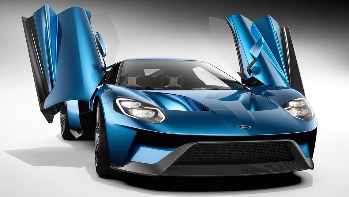 Photo Shows The  Ford Gt Supercar Photo Supplied