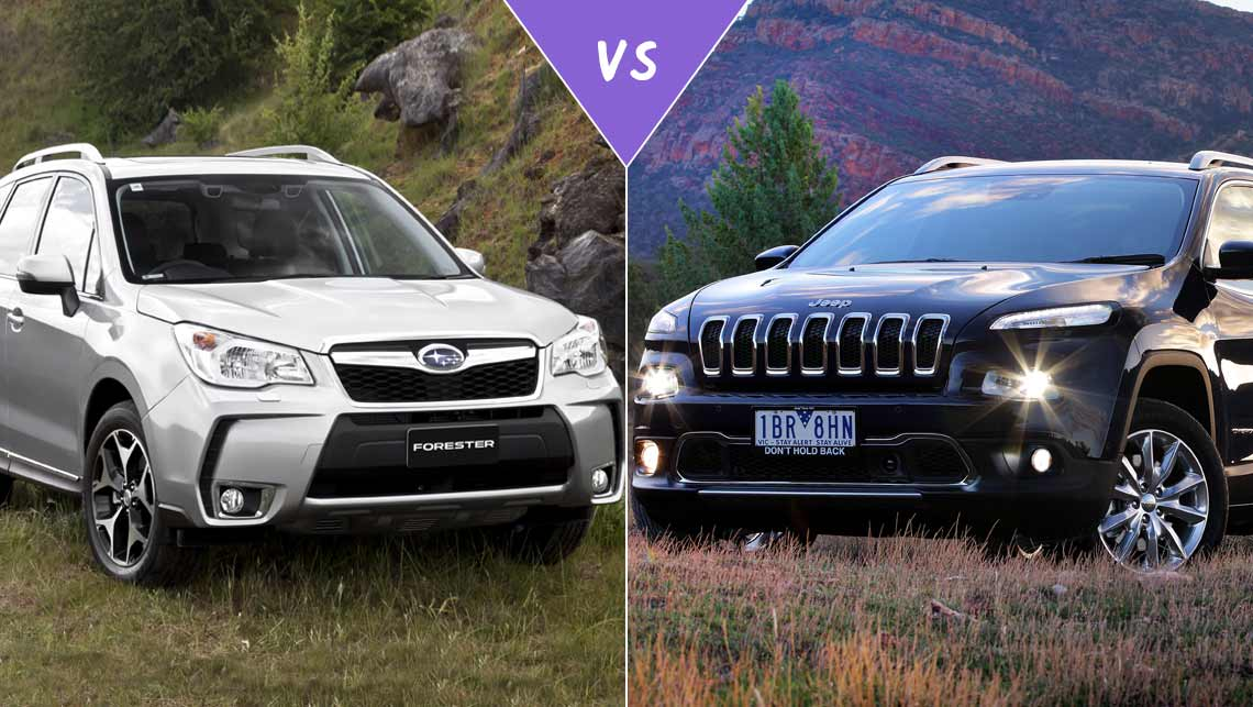 Subaru Forester XT vs Jeep Cherokee Limited Review | CarsGuide