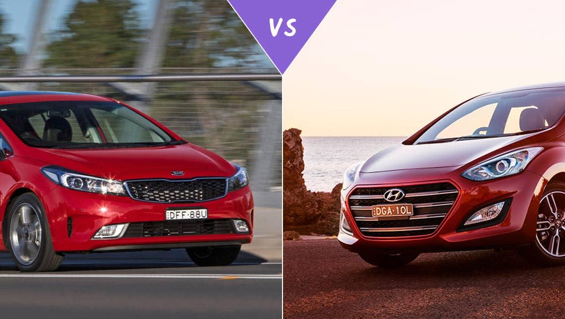 Kia cerato vs hyundai i30 2015