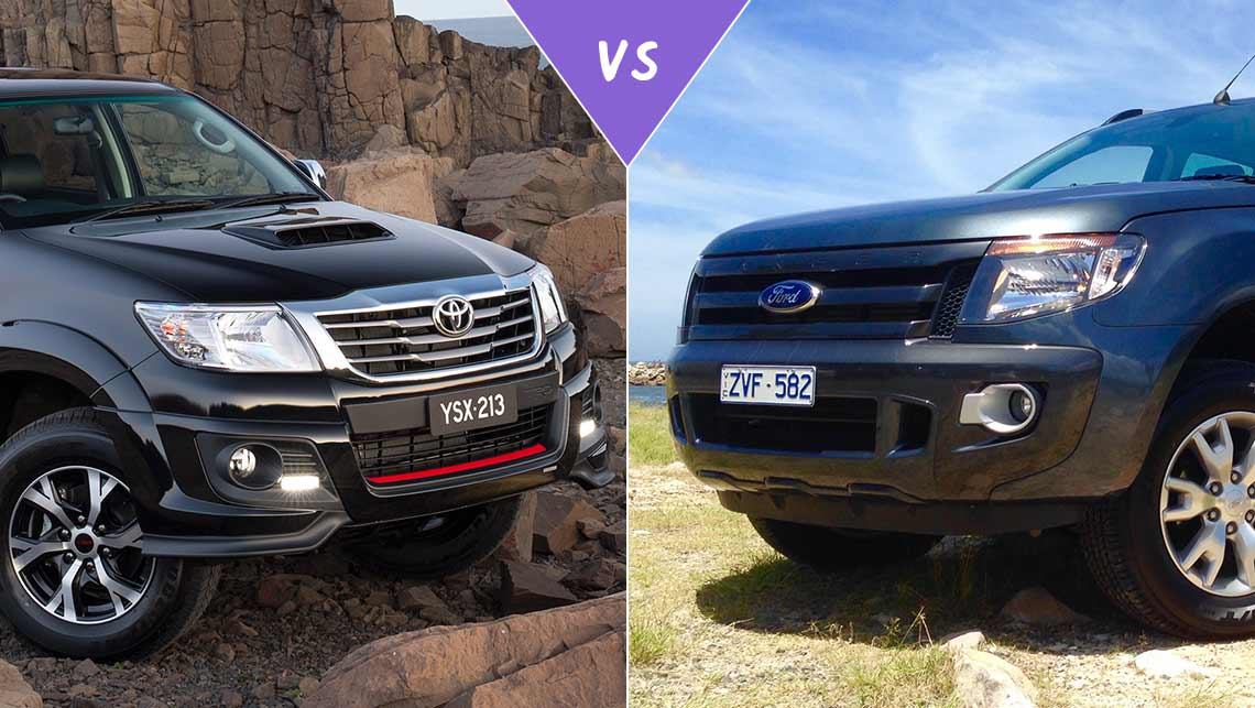 New Ford Ranger Cost >> Toyota HiLux Black Edition vs Ford Ranger Wildtrak Review ...