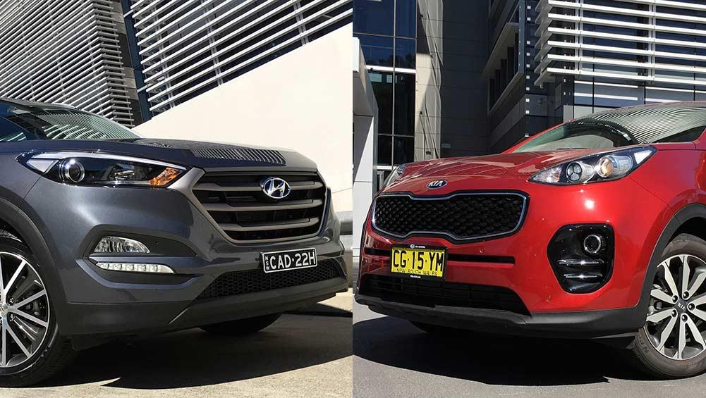 Coupe Vs Sedan >> Hyundai Tucson vs Kia Sportage Review | CarsGuide