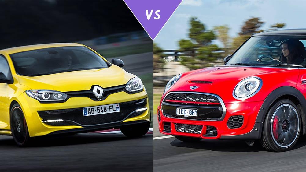 Coupe Vs Sedan >> Renault Megane RS vs Mini JCW hatch Review | CarsGuide