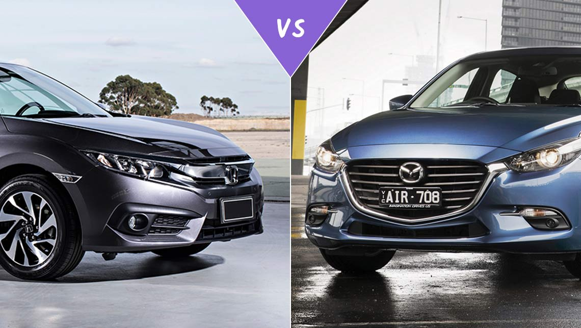 honda civic vs mazda 3 2016 review review | carsguide