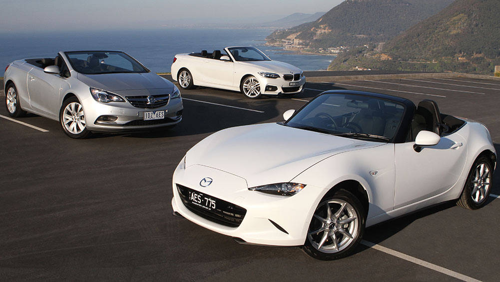 mazda mx 5 holden cascada and bmw 2 series convertible 2015 review carsguide. Black Bedroom Furniture Sets. Home Design Ideas