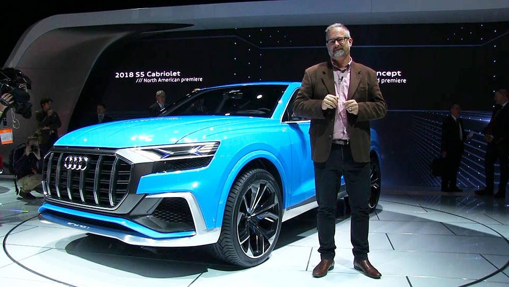 Audi Q8 Hybrid SUV Coupe Concept Revealed In Detroit | Video
