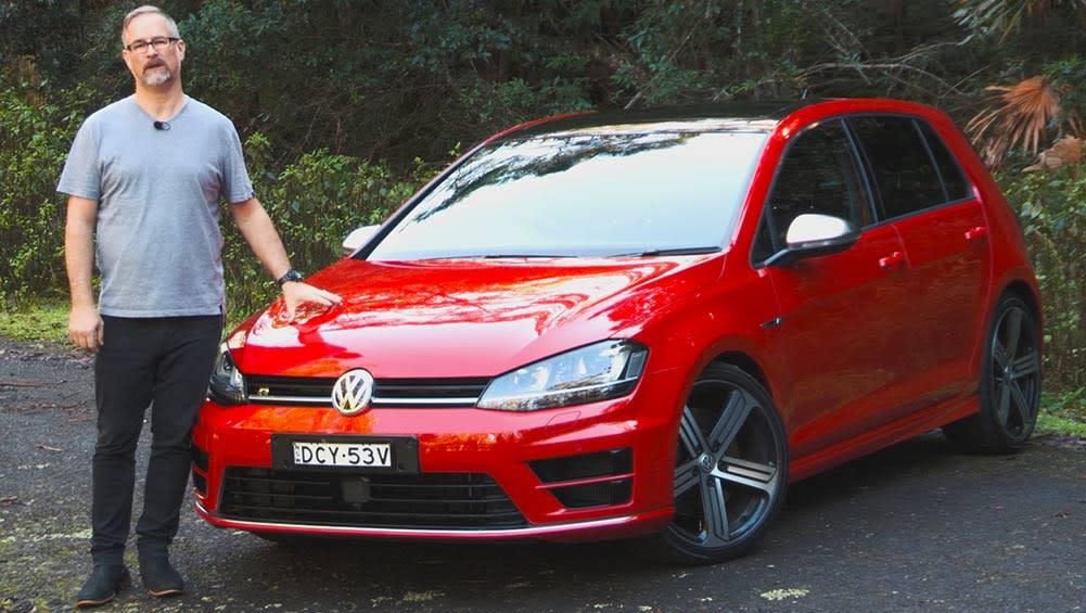 volkswagen golf r 2016 review road test video carsguide. Black Bedroom Furniture Sets. Home Design Ideas