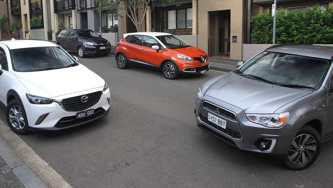 Mazda CX-3 vs Honda HR-V vs Renault Captur vs Mitsubishi ASX 2015 Review | CarsGuide