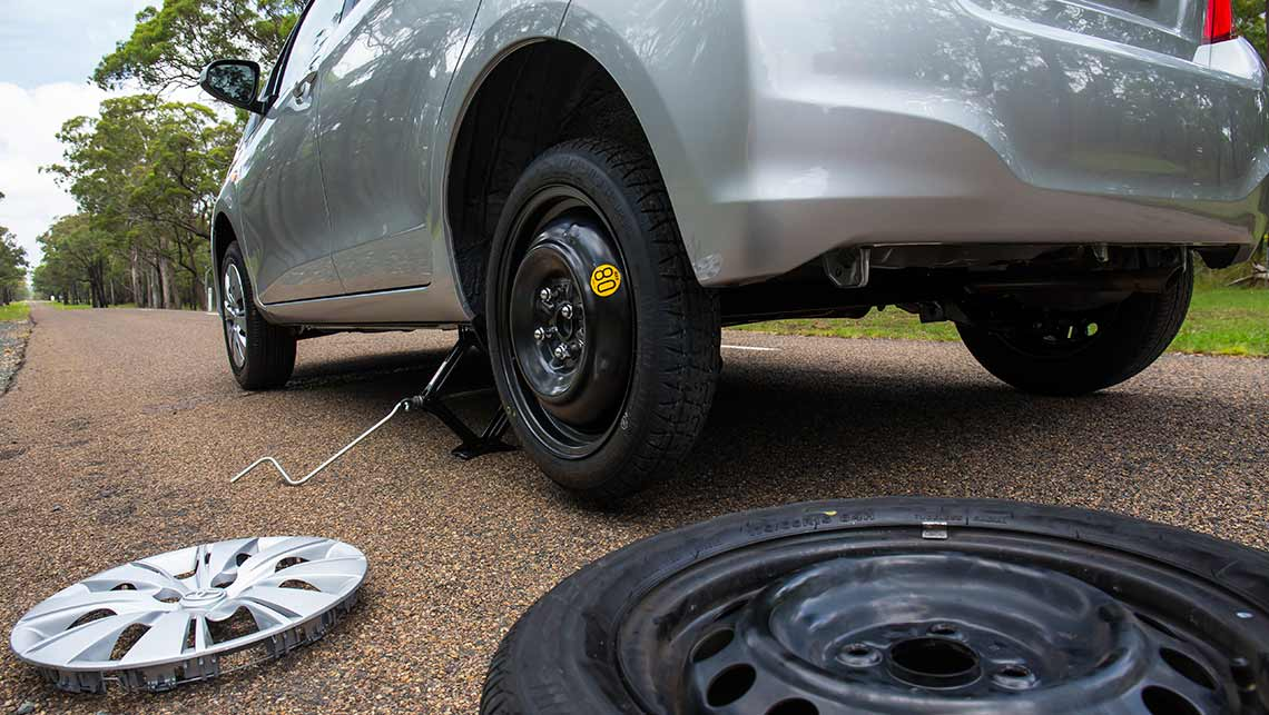Full-size spare, space saver, run-flats or puncture repair kit ...