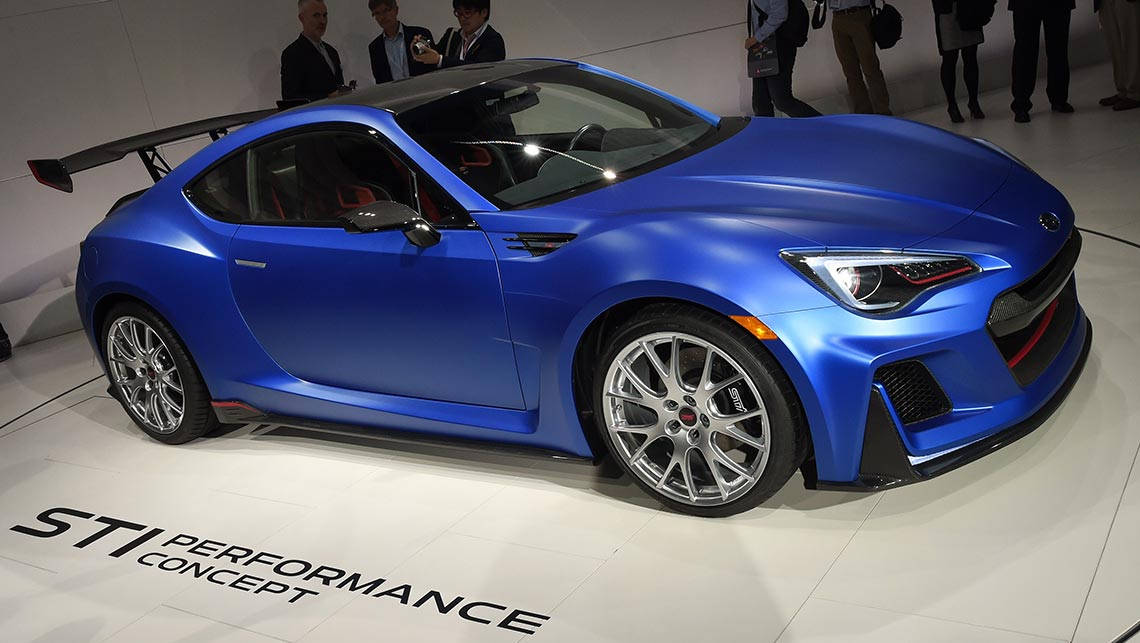 Subaru shows off BRZ turbo concept - Car News | CarsGuide