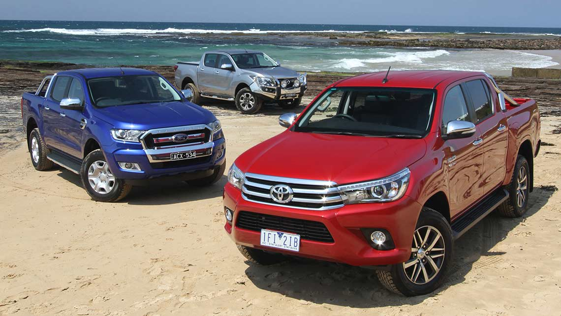 Toyota Hilux Ford Ranger And Mazda Bt 50 2015 Review Carsguide