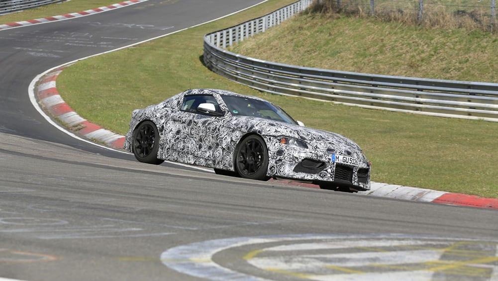 Toyota Supra 2018 Spied Testing On Nurburgring