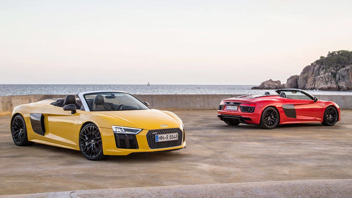 audi r8 spyder 2017 review first drive carsguide. Black Bedroom Furniture Sets. Home Design Ideas