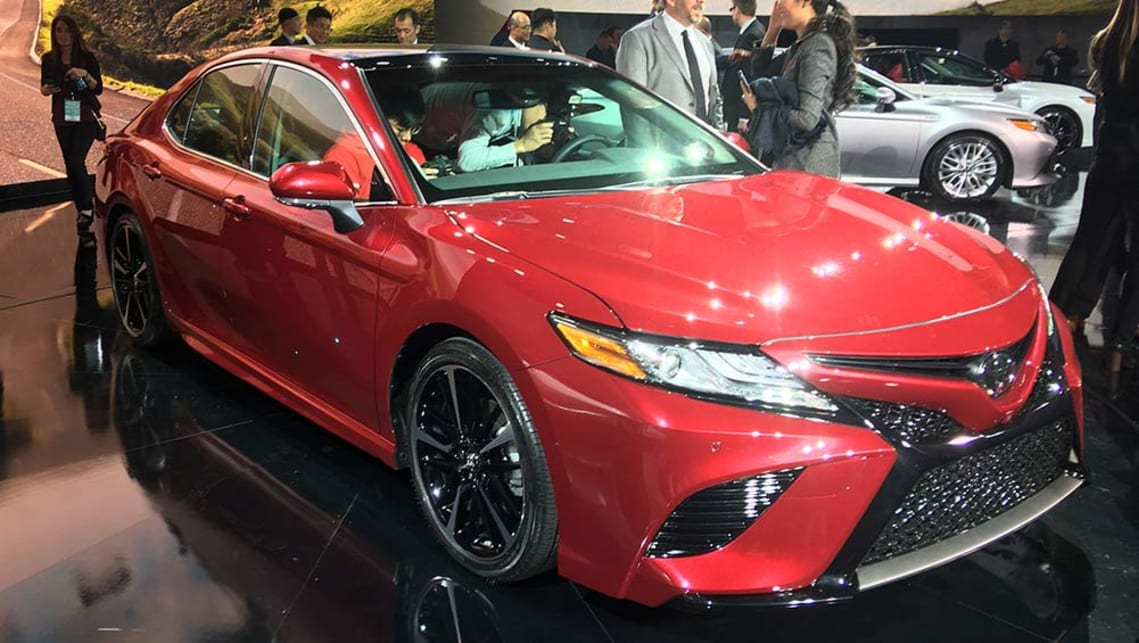 2017 toyota camry revealed in detroit video car news carsguide. Black Bedroom Furniture Sets. Home Design Ideas