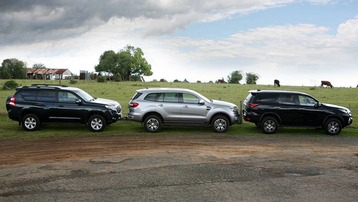 2015 Ford Everest Toyota Fortuner And Toyota Landcruiser Prado Review Carsguide