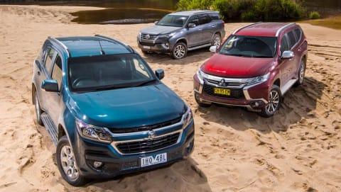 Holden Trailblazer, Toyota Fortuner and Mitsubishi Pajero Sport 2016 review   comparison