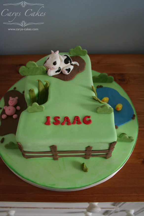 Carys Cakes Number 1 birthday cake for a boy