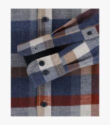Flanellhemd in Blau Comfort Fit - CASAMODA
