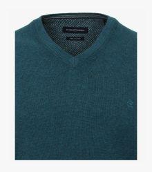 Pullover in sattes Mittelblau - CASAMODA