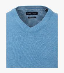 Pullover in graues Mittelblau - CASAMODA