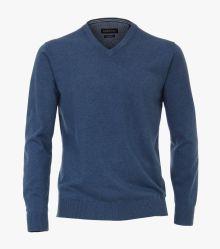 Pullover in dunkles Mittelblau - CASAMODA