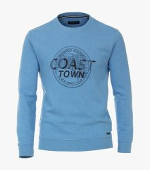 Sweatshirt in Mittelblau - CASAMODA