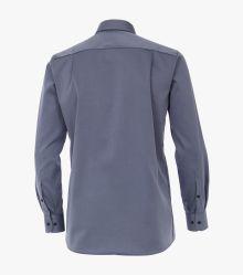 Businesshemd extra langer Arm 72cm in graues Mittelblau Comfort Fit - CASAMODA