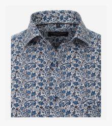 Businesshemd in dunkles Mittelblau Comfort Fit - CASAMODA