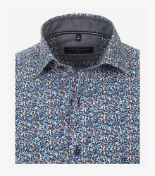 Freizeithemd in dunkles Mittelblau Comfort Fit - CASAMODA