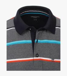 Polo-Shirt in sattes Mittelblau - CASAMODA