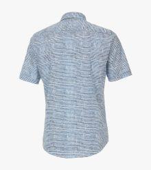 Freizeithemd Kurzarm in dunkles Mittelblau Casual Fit - CASAMODA
