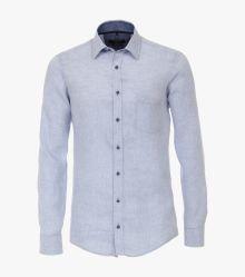 Leinenhemd in Hellblau Casual Fit - CASAMODA