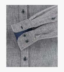 Leinenhemd in Schwarz Casual Fit - CASAMODA