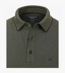 Polo-Shirt in Olive - CASAMODA