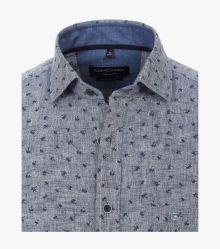 Leinenhemd in Mittelblau Casual Fit - CASAMODA