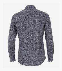 Leinenhemd in Dunkelblau Casual Fit - CASAMODA