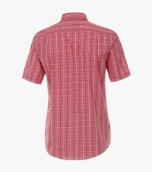 Freizeithemd Kurzarm in Rot Comfort Fit - CASAMODA