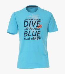 T-Shirt in Blau - CASAMODA